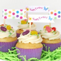 Cute and Easy Ribbon Cupcake Toppers