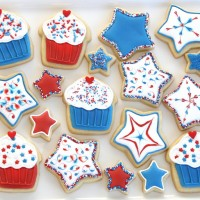 4th of july decorated cookies