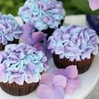Hydrangea cupcakes