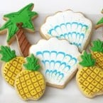 luau party cookies
