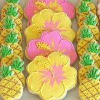 Hibiscus Decorated Cookies