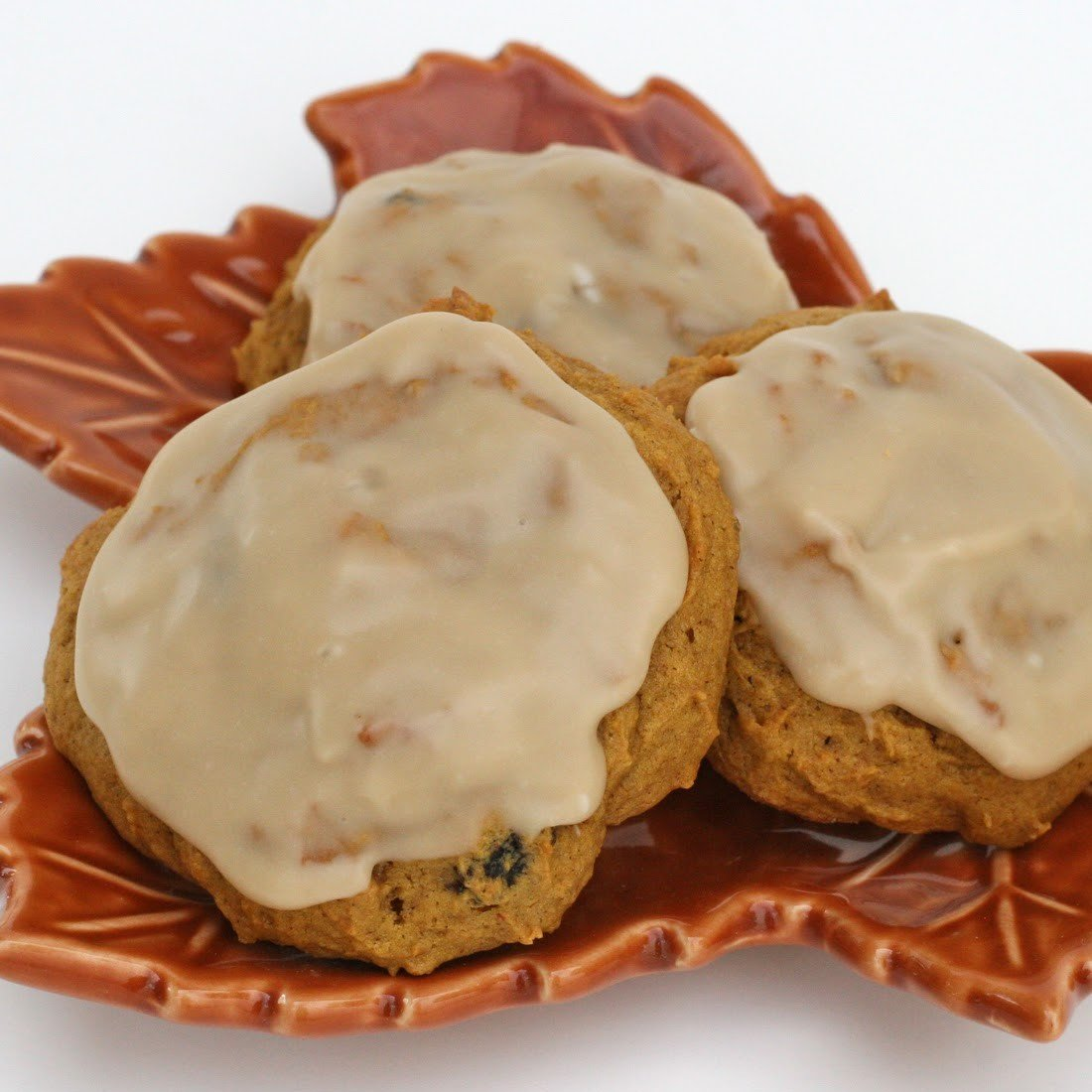 Pumpkin Cookies With Cinnamon Icing Recipe — Dishmaps