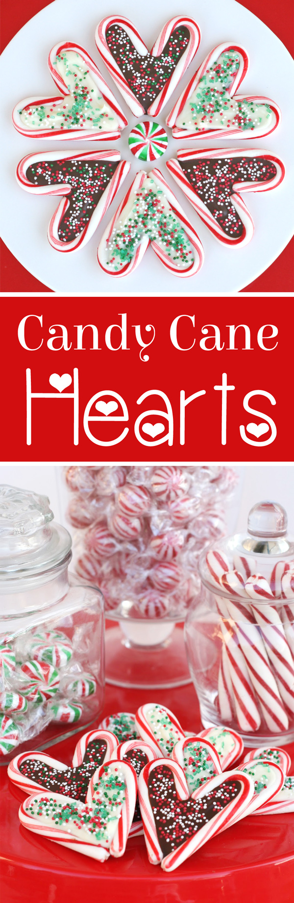 So cute and creative! Candy Cane Hearts by GloriousTreats.com