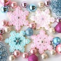Vintage pastel Christmas cookies