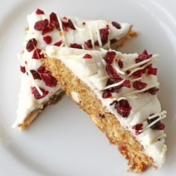 cranberry white chocolate bars