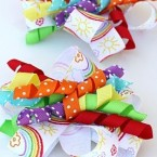curly ribbon hair bows
