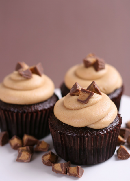 ... butter and chocolate i often write about my peanut butter cup cupcakes