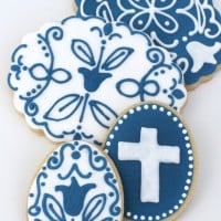 Blue and White Easter Cookies