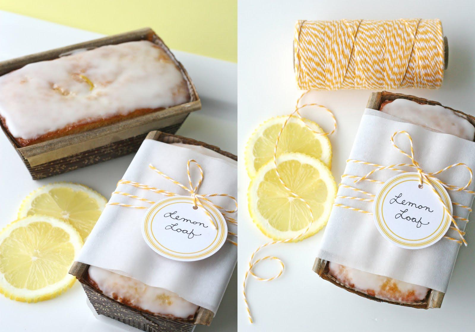 lemon loaf side by side collage