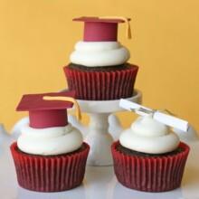 fondant graduation caps