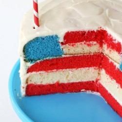 Flag inside cake