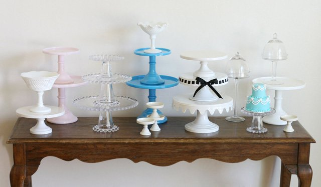 Gorgeous Cake Stand Collection (with links to sources) - via GloriousTreats.com