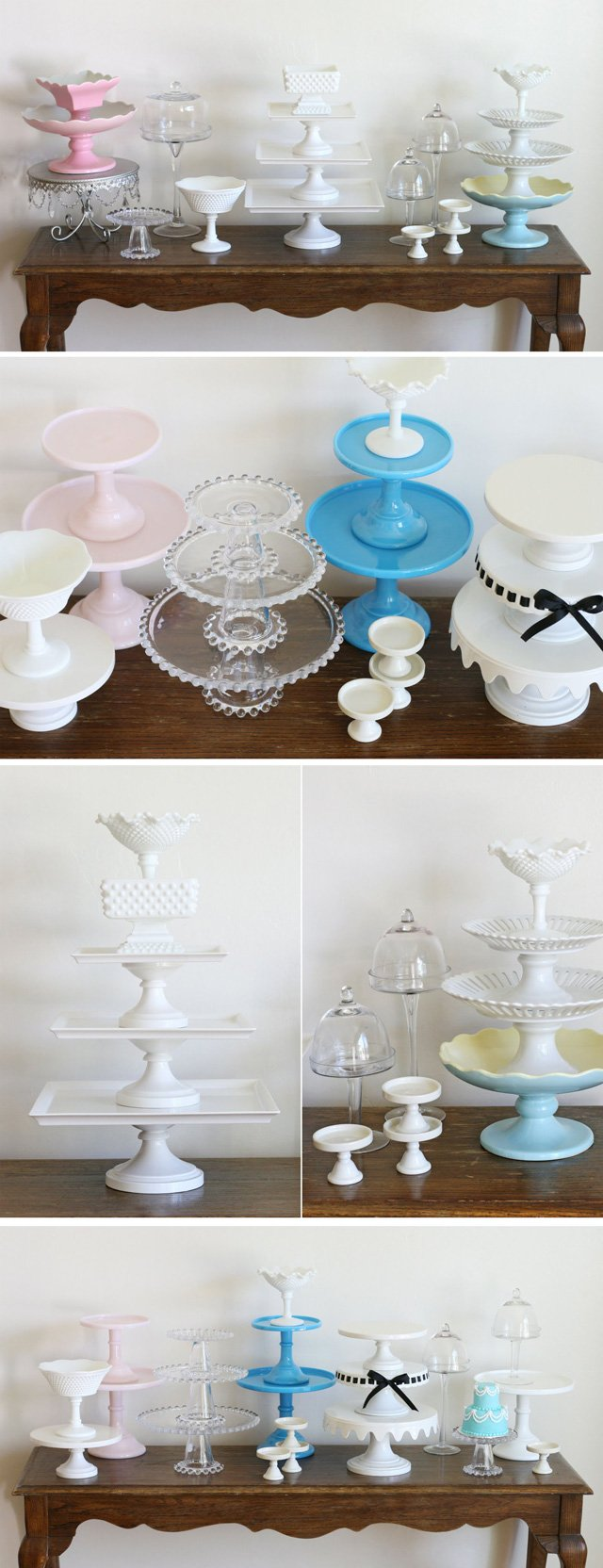 Incredible Collection of Cake Stands!! - via GloriousTreats.com