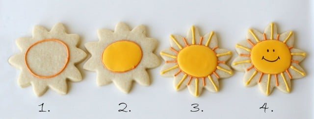2 how to decorate smiling sunshine cookies - Cookie Decorating