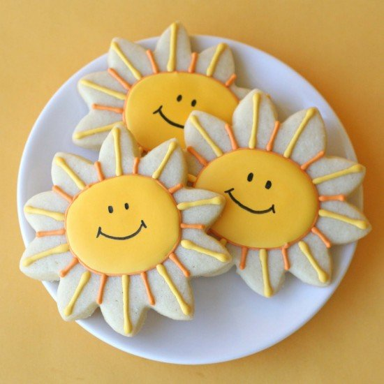 Happy Sunshine Cookies Cookie Decorating Glorious Treats