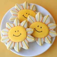 smiling sunshine cookies