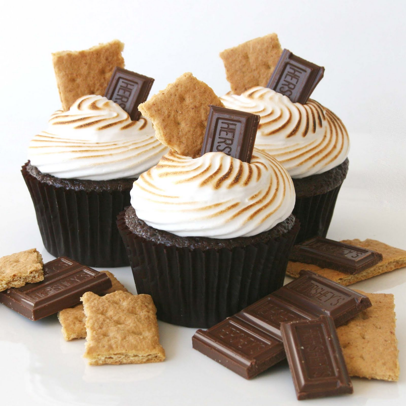 Chocolate S'mores Cupcakes {Recipe}