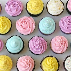 Pretty colored cupcakes