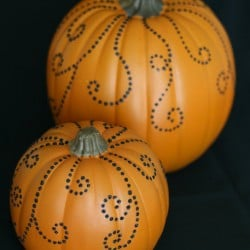 jeweled pumpkins craft
