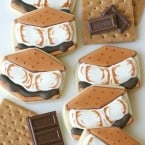 s'mores decorated cookies