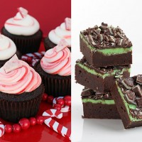 Chocolate pepermint cupcakes and Fudge mint brownie recipes