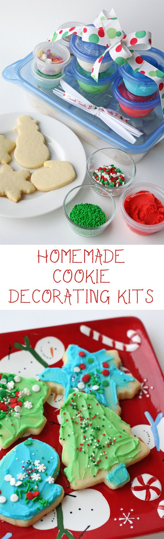 Homemade Cookie Decorating Kits - This is the perfect gift for families with kids!