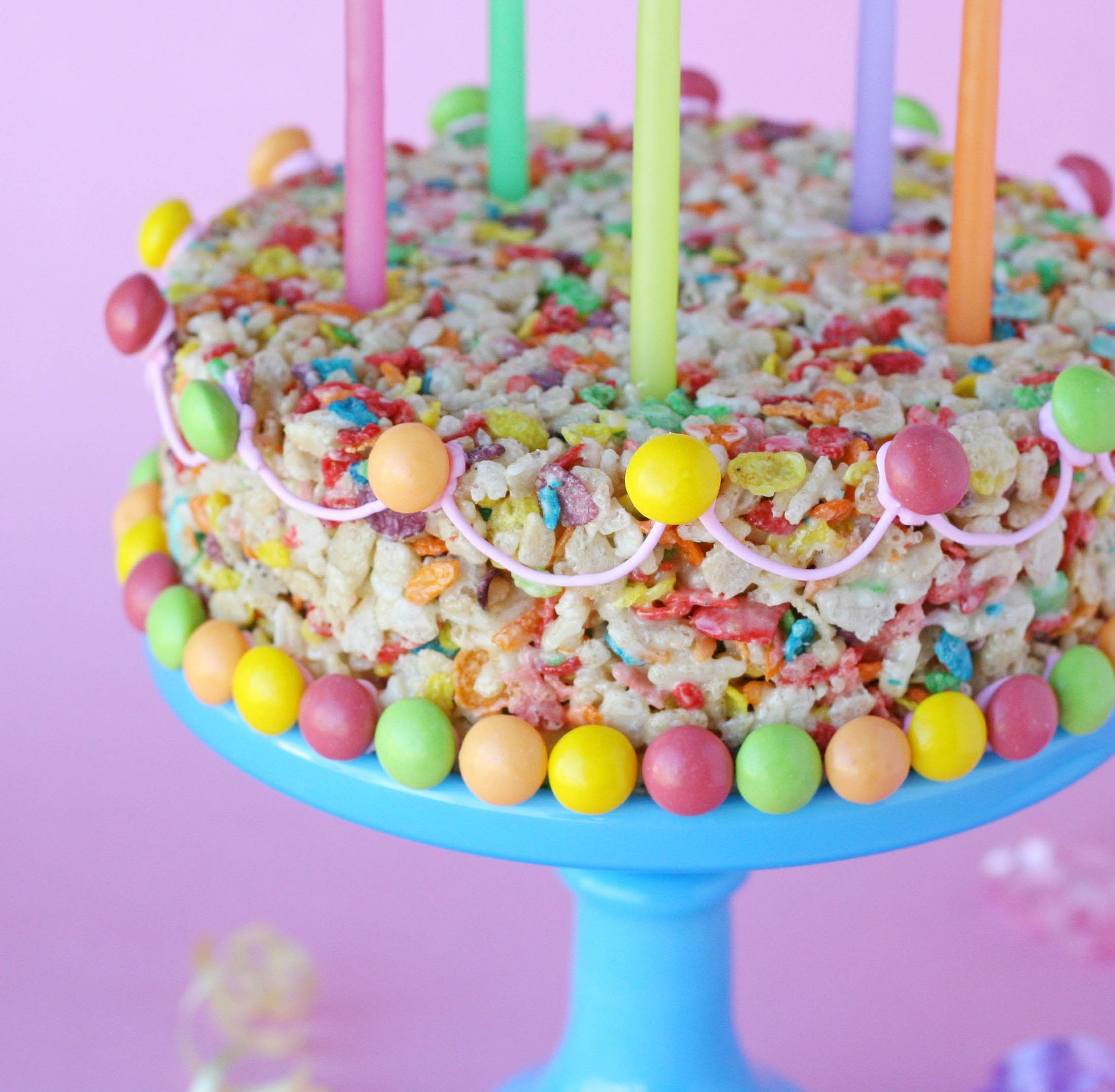Excellent Fruity Pebbles Treats Cake Glorious Treats Personalised Birthday Cards Sponlily Jamesorg