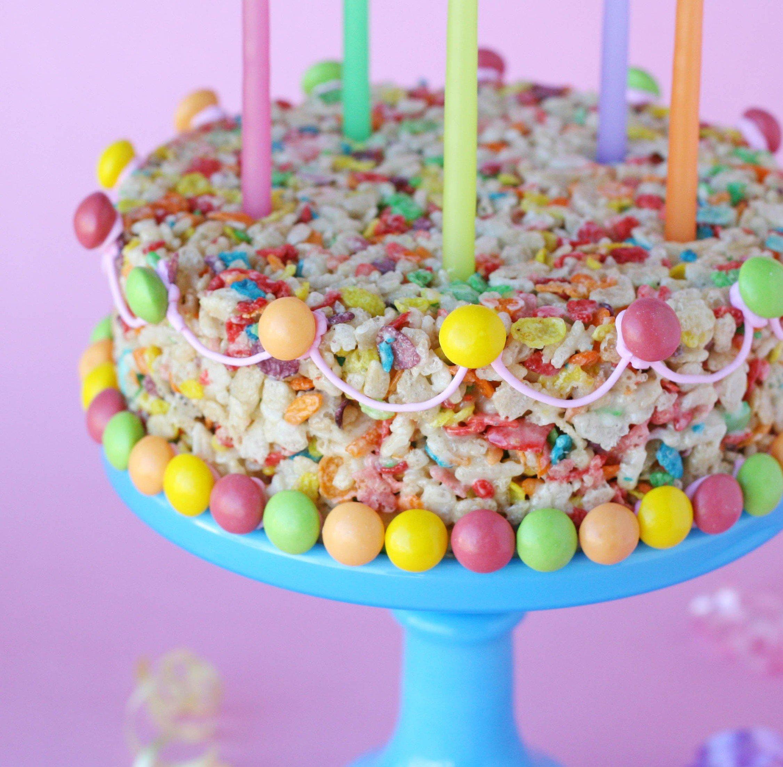 Fabulous Fruity Pebbles Treats Cake Glorious Treats Personalised Birthday Cards Cominlily Jamesorg