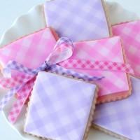 Gingham cookies