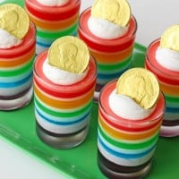 St Patricks day rainbow jello