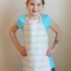 Easy kid apron tutorial