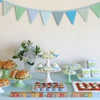 Baby shower  food and dessert table
