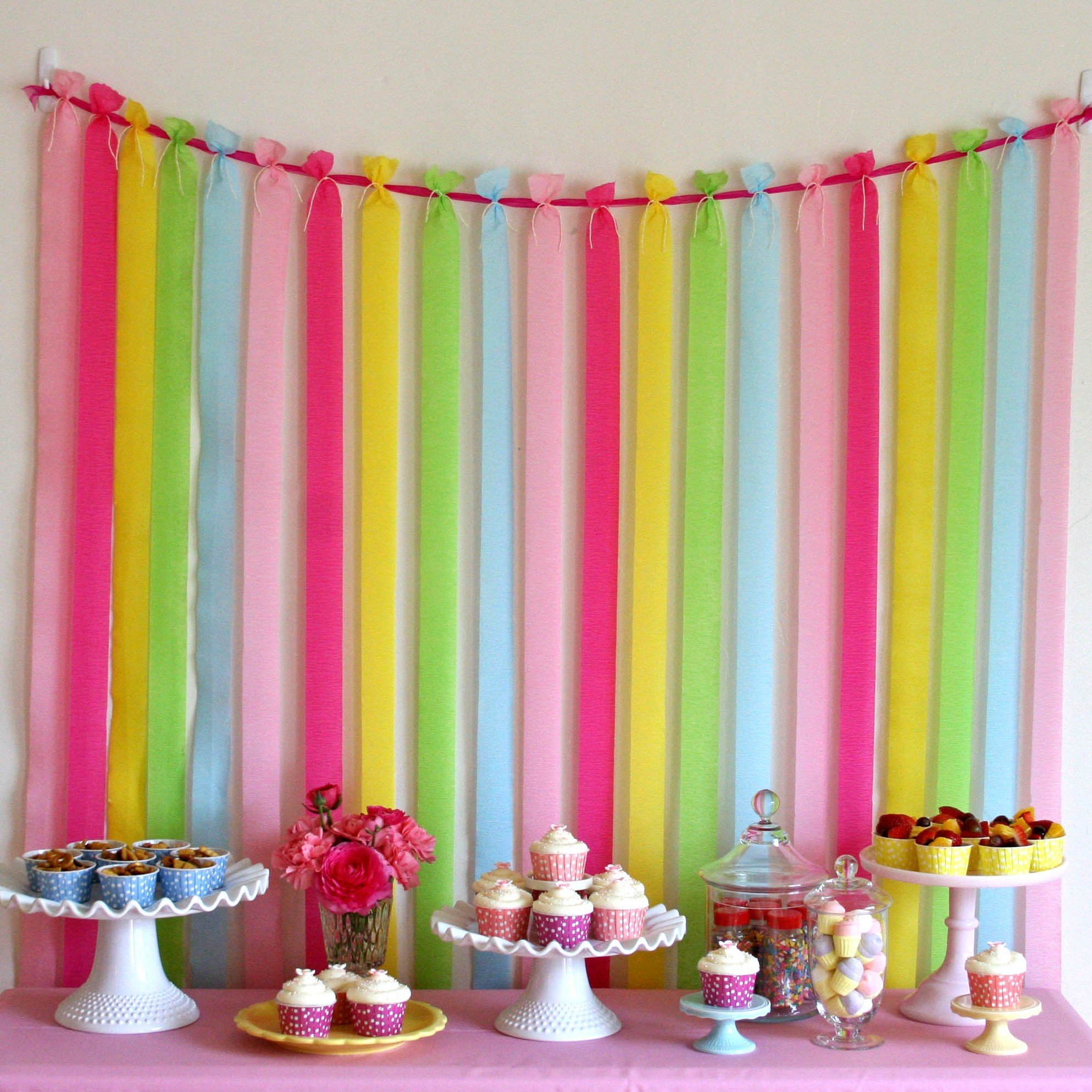 Pretty party backdrop glorious treats for Back ground decoration
