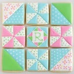 Quilt decorated cookies