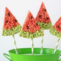 Watermelon-Krispie-Treats