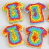 Tye Dye Shirt Cookies How To