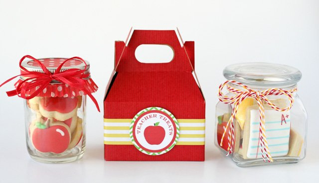 Cute gift wrapping for christmas cookies