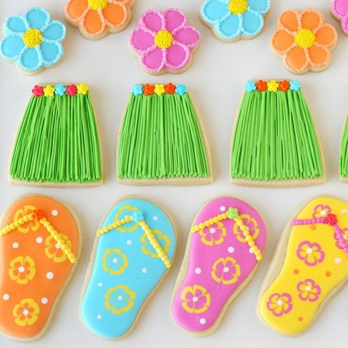 82467accd0bc Grass Skirt and Flip Flop Cookies – Glorious Treats