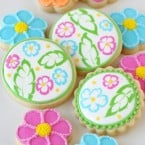 Tropical Flower Cookies (with decorating how-to)