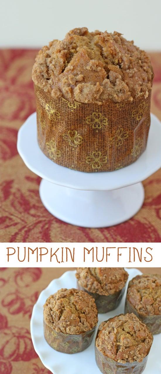 The BEST pumpkin muffin recipe! Perfect for fall!
