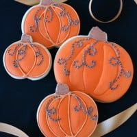 Jeweled Pumpkin Cookies - by Glorious Treats