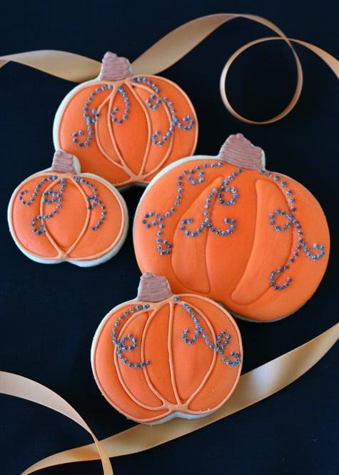 Jeweled Pumpkin Cookies