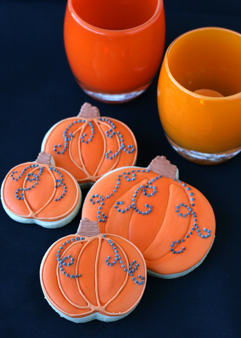 Prop note- Orange candle holders from glassybaby .