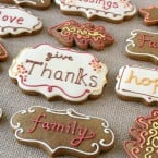 Thanksgiving Cookies - by Glorious Treats