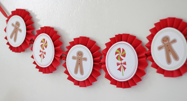 Gingerbread party banner