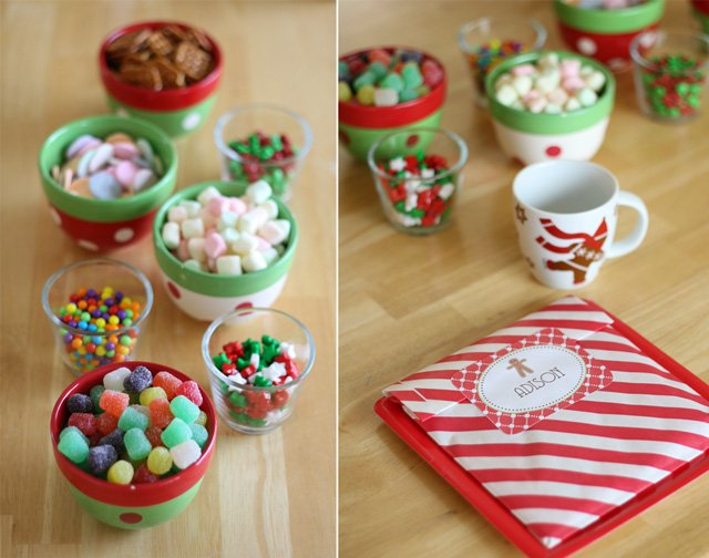Gingerbread house candy