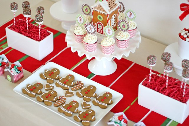 Gingerbread party desserts