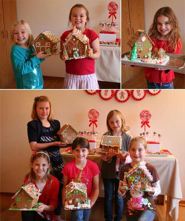 Kids with Gingerbread Houses