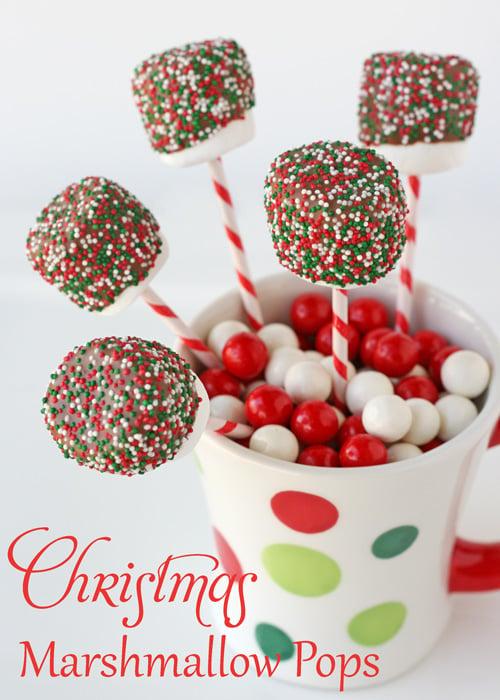 Christmas Marshmallow Pops – Glorious Treats