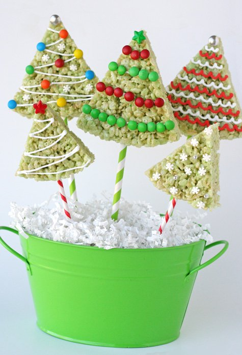 Rice Crispy Treat Christmas.Rice Krispie Treat Christmas Trees Glorious Treats